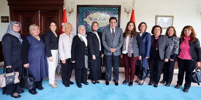 Kadın Meclisi'nden Vali Küçük'e ziyaret