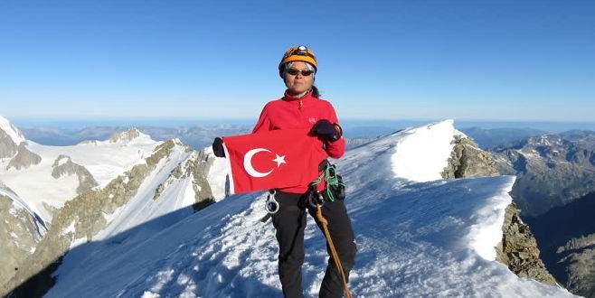 Kadın dağcı Uludağ'dan Alpler'e uzandı