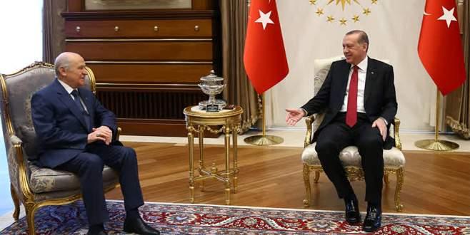 Cumhurbaşkanı Erdoğan, Bahçeli'yi kabul etti