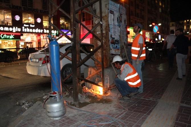 Van'da Estetiği Bozan Elektrik Direkleri Kaldırılıyor