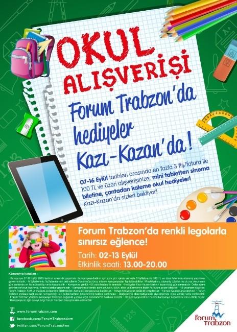 Forum Trabzon, Kazı-kazan Kampanyası İle Öğrencilerin Çantalarını Donatacak