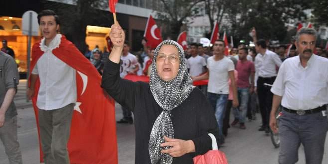 Bursa'da teröre lanet yağmaya devam ediyor
