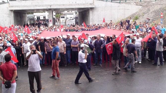 Pendik'te Terör Protestosu