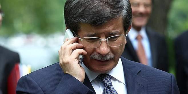 Davutoğlu'ndan şehit babasına taziye telefonu
