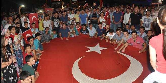 Bursa'da teröre lanet yürüyüşü