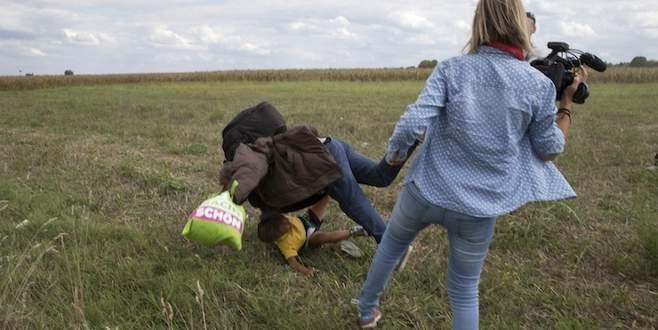 Kameramanın çelme taktığı sığınmacı Madrid'de