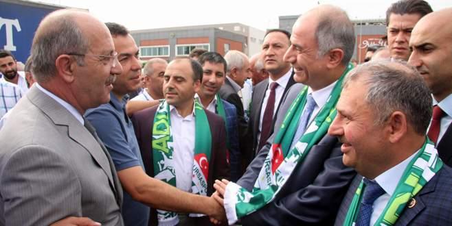 Efkan Ala'ya Bursa'da coşkulu karşılama