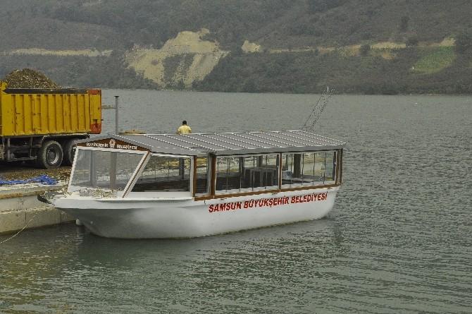 Büyükşehir'den Ayvacık Baraj Gölü'ne Küçük Gezi Teknesi