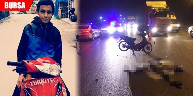 Bursa'da 16 yaşındaki genç kaza kurbanı