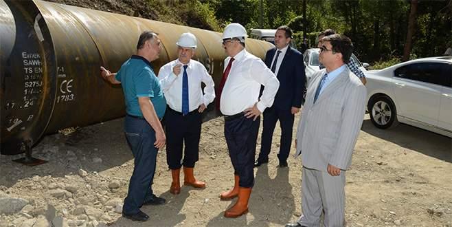 Doğancı Barajı'ndaki yenileme çalışmaları tam gaz