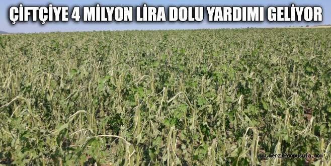 Çiftçiye 4 milyon lira dolu yardımı geliyor
