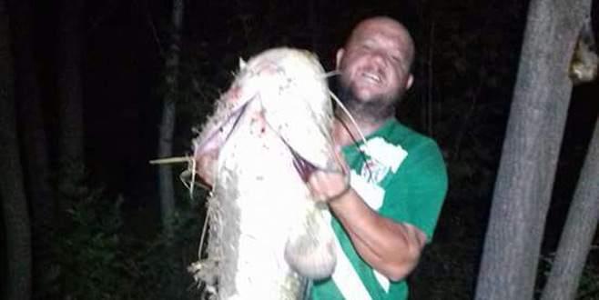 Kocasu'da 35 kiloluk yayın balığı