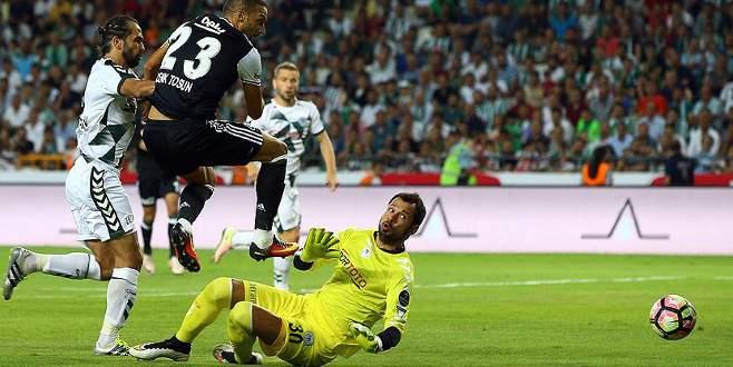 Konyaspor ile Beşiktaş 2-2 berabere kaldı
