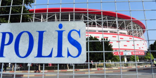 Antalya Stadı'nda yoğun tedbir alındı