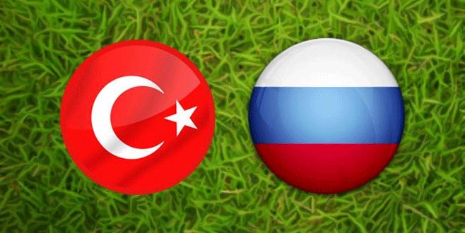 Türkiye-Rusya maçının saatinde değişiklik