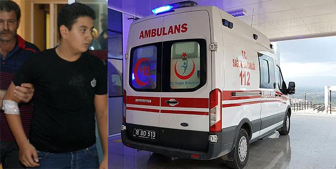 Bursa'da bisikletli gence ambulans çarptı
