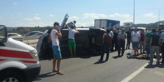 Bursa'da otomobil köprüden uçtu!