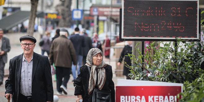 Bursa'da cuma günü sıcaklık 35 dereceye kadar çıkacak