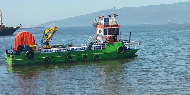 Gemlik Körfezi deniz süpürgeleriyle temizleniyor