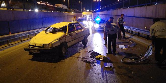 Kontrolden çıkan araba takla attı: 1 yaralı