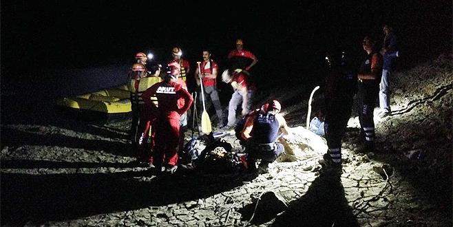 Bursa'da bataklığa saplanan köpeğe kurtarma operasyonu