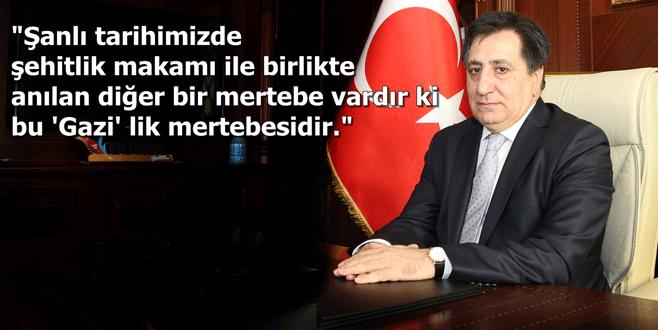 Vali İzzettin Küçük'ten Gaziler Günü mesajı