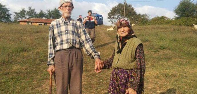 Kaybolan yaşlı kadın ormanda bulundu