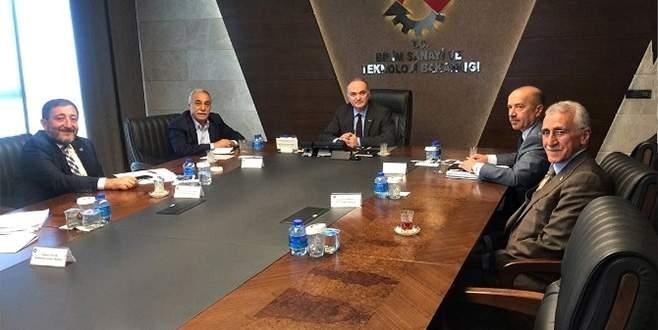 Bilim Sanayi ve Teknoloji Bakanı Faruk Özlü Şanlıurfa heyetini kabul etti