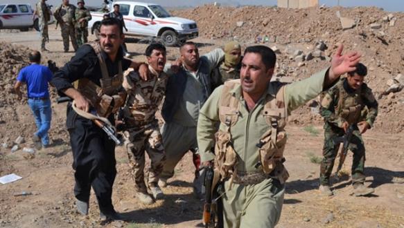 Peşmerge IŞID`i üç cepheden vuruyor
