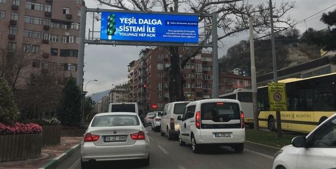 Bursa'da 65 kavşağa yeşil dalga sistemi
