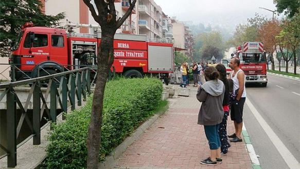 Bursa`da askeri lojmanda patlama
