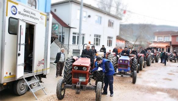 Gezici traktör muayene istasyonu Bursa'da