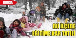 Bursa'da bir ilçede daha eğitime kar engeli!