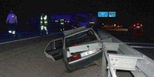 LPG tankeri otomobille çarpıştı: 4 yaralı