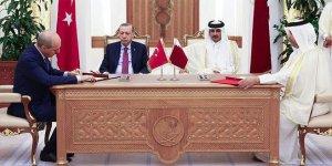 Cumhurbaşkanı Erdoğan Katar'da imza törenine katıldı