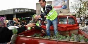 Mustafakemalpaşa'da vatandaşa iki bin fidan