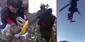 İşte Uludağ'daki nefes kesen operasyonun görüntüleri