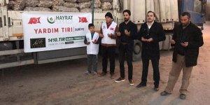 Bin 410'uncu TIR Suriye'ye gönderildi