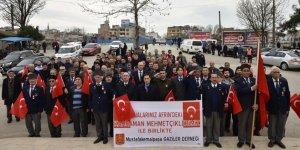 Gazilerden harekâta destek yürüyüşü
