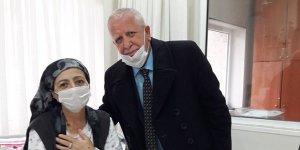 41 yıllık eşine böbreğini verdi