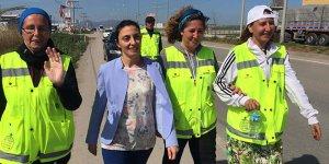 CHP'li Kayışoğlu'ndan, istismar ve şiddete dikkat çekmek için yürüyen kadınlara destek