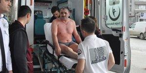 Üzerine kimyasal madde dökülen işçi yaralandı
