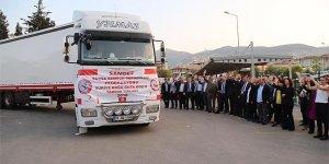 Bursa'dan Doğu Guta'ya 4 TIR yardım malzemesi