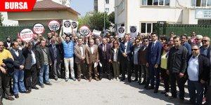 'Öğretmene şiddet' protestosu