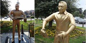 'Künefe çeviren adam' heykelinin çalınan tepsisi bulundu