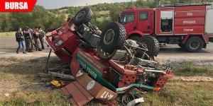 Görev dönüşü kaza yaptılar: 4 yaralı