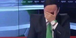 Takımı ligde kalınca spiker canlı yayında hüngür hüngür ağladı!