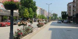 İnegöl caddeleri çiçek açıyor