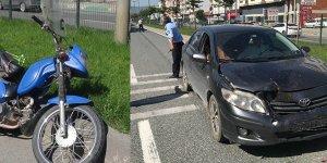 Motosikletli yaşlı adam ölümden döndü