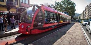 Bursa'da tramvay hatlarına miting düzenlemesi